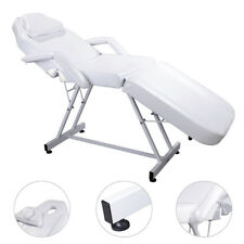 Classic Adjustable Massage Table Beauty Salon Chair Facial Spa Tattoo Bed White