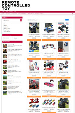 REMOTE CONTROL TOYS UK WEBSITE WITH 1 YEARS HOSTING - FULLY STOCKED