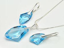 Schmuckset Sterling Silber 925 m. Swarovski Elements Ohrringe Anhänger Halskette