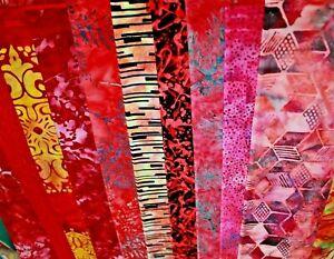 Hoffman Rainbow Batik Reds & Pinks Cotton Fabric Your Choice BTHY