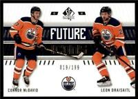 2019-20 UD SP Authentic Base - Future Icons #128 Connor McDavid/Leon Draisaitl