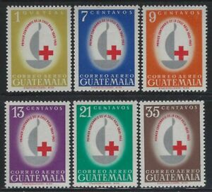 Guatemala 1960 Red Cross Centennial set Year Sc# C304-09 NH