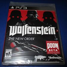 Wolfenstein: The New Order Sony PlayStation 3 -PS3- *Factory Sealed! *Free Ship!