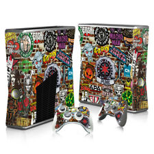 Xbox 360 Slim - Sticker bomb Set - Protective Skin Console & Controllers - 3018