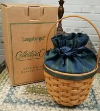 Longaberger Collector's Club Renewal Basket Edition 2004 w/Box, Liner, and Prot.