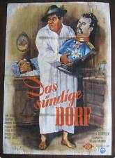 Filmplakat EA A1  Das sündige Dorf  1954  Joe Stöckel, Günther Lüders  2.