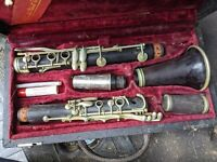 Buffet Crampon Wood Clarinet Made in France Case Parts/Repair VTG Rare Pro