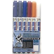 GSI Creos Mr.Hobby GMS 112 Gundam Real Touch Marker Set 1 (6 Colors Pen)