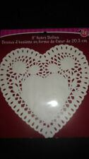 """Valentines Day 8"""" White Paper Heart Doilies 5 Packs Lot 100 Ct Doiley Wedding !"""