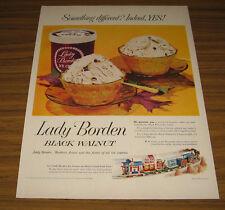 1953 Vintage Ad Lady Borden Black Walnut Ice Cream Milk,Cheese,Coffee