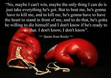 ROCKY BOXING INSPIRATIONAL / MOTIVATIONAL QUOTE POSTER / PRINT / PICTURE(6)