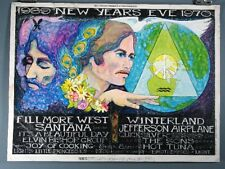 Santana, Hot Tuna, Elvin Bishop Group, Vintage Poster
