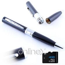 Bolígrafo Espía Cámara Oculta Full HD 1286x960+Tarjeta 4GB a903