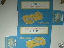 REPLIQUE  BOITE CITROEN 2CV BERLINE 1961 JRD