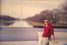 Vintage Photo Slide Kodachrome 1960s Washington DC Monument Handsome Man Sexy