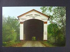 Rockville Indiana IN Jackson Covered Bridge Sugar Creek Turkey Run Postcard 1962
