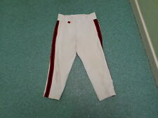 Vintage Sin Marca blanco con azul y rojo a rayas Culotte pirata Pantalones De Béisbol Americano