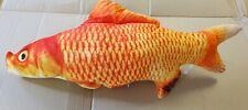 Medium Red Fish Goldfish Pillow cushion 60cm Novelty Fishermans Xmas Present