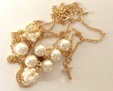 Chain Pearl Religious Costume Necklaces & Pendants