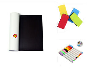 1 Set Whiteboard A4 Soft Magnetic Message Board Dry Erase Drawing Record Sticker