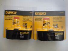 (2) DEWALT 18V 18 Volt Ni Cad Battery Packs Model DC9096-2 New In Package DC9096