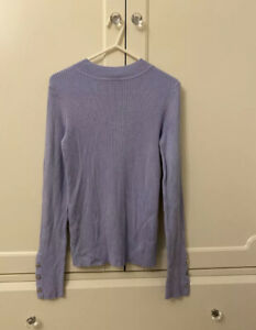 Lipsy Ribbed High Neck Size 6 Jumper Lilac Purple