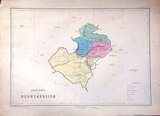 PERÚ,Departamento de Huancavelica..Paz Soldán.Geografía del Perú 1865.