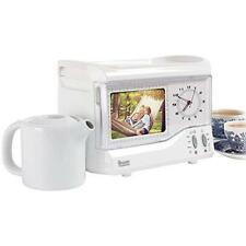 Vintage Retro Style Bedside Breakfast Teasmade For Two With Photo Frame, Clock