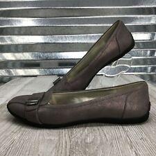 Anne Klien Sport Women's Bronze Vegan Comfort Flat Loafer Shoe Size 6.5