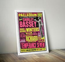More details for shirley bassey reproduction concert poster print london palladium
