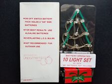 Department 56 10 Light Set Battery Operated Silver Wire #3633-1 Accessory 💖