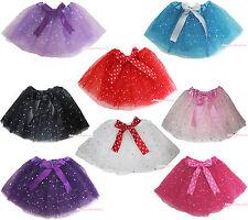 Star Sequins Child Kids Fluffy Party Novelty Dress Tulle Tutu Dance Ballet Skirt