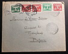 1945 Hardinxveld Netherlands Airmail Cover To Batavia Dutch Indies