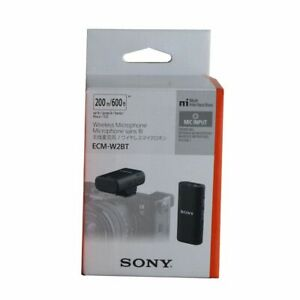 Sony ECM-W2BT Camera-Mount Digital Bluetooth Wireless Microphone System for Vlog