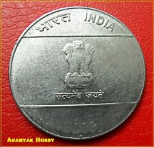 INDIA 2008 Noida mint rare Mule coin - 10 Rupees struck on 2 Rupees steel coin