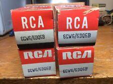NOS Quad 6DQ6 RCA Tubes Tested 6GW6