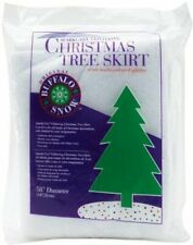 "Glittering Christmas Tree Skirt~Buffalo Snow~58"" Diameter~Multi-Colored Glitter"