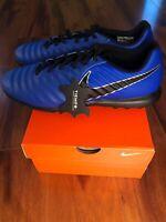 Nike Tiempo Lunar Legend 7 Pro TF Turf Soccer Shoes Blue/Blk AH7249-400 Size 11