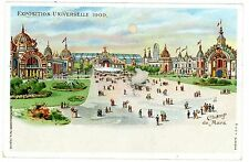 Paris France-EXPOSITION UNIVERSELLE 1900-CHAMP MARS-Hold to Light Postcard HTL