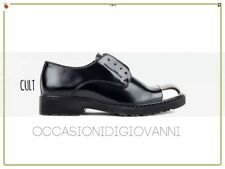 SCARPE donna francesine CULT basse oxford DERBY ROSE LOW NERO mis35 parigine new