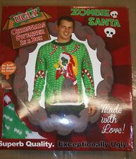 Zombie Santa Ugly Christmas Sweater- FunQi XL