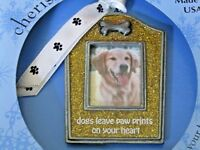 DOG PHOTO CHRISTMAS ORNAMENT, Gloria Duchin Collectible, NEW Adorable!!