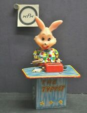 Vintage 1960s Kanto Japan Toys Busy Rabbit the Typist Mechanical Wind Up Toy