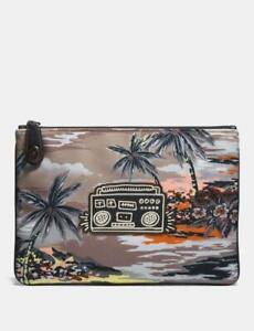 🎵Coach X Keith Haring Pouch Hawaiian Brown Boombox 🎛️~ NWT
