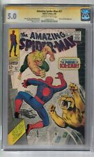 AMAZING SPIDER-MAN #57 SIGNED BY STAN LEE CGC SS GRADED 5.0 MARVEL COMIC BOOK
