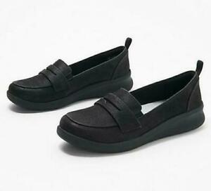 Clarks Cloudsteppers Women's Sillian 2.0 Slip-On Loafers - Black, NEW