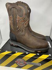NEW Justin Boots Commander X5 Brown Work Boot WK2108 Steel Toe Men's Size 15 D