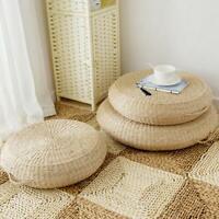 Tatami Cushion Round Straw Mat Chair Seat Pad Pillow Round Floor Tablemat Yoga