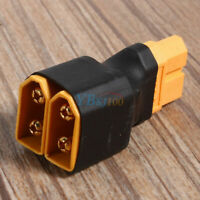 XT60 Plug 1 Female To 2 Male Connector Adapter For RC Lipo Battery Parallel ❤Ho