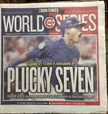 Chicago Cubs World Series Game 6 Newspaper 11/2/16 Sun Times Plucky Seven